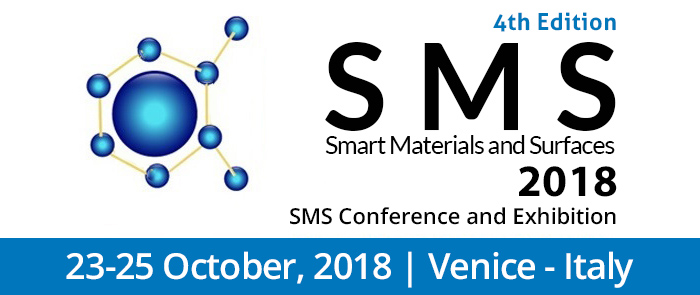 4th Edition Smart Materials & Surfaces Conference, SMS 2018