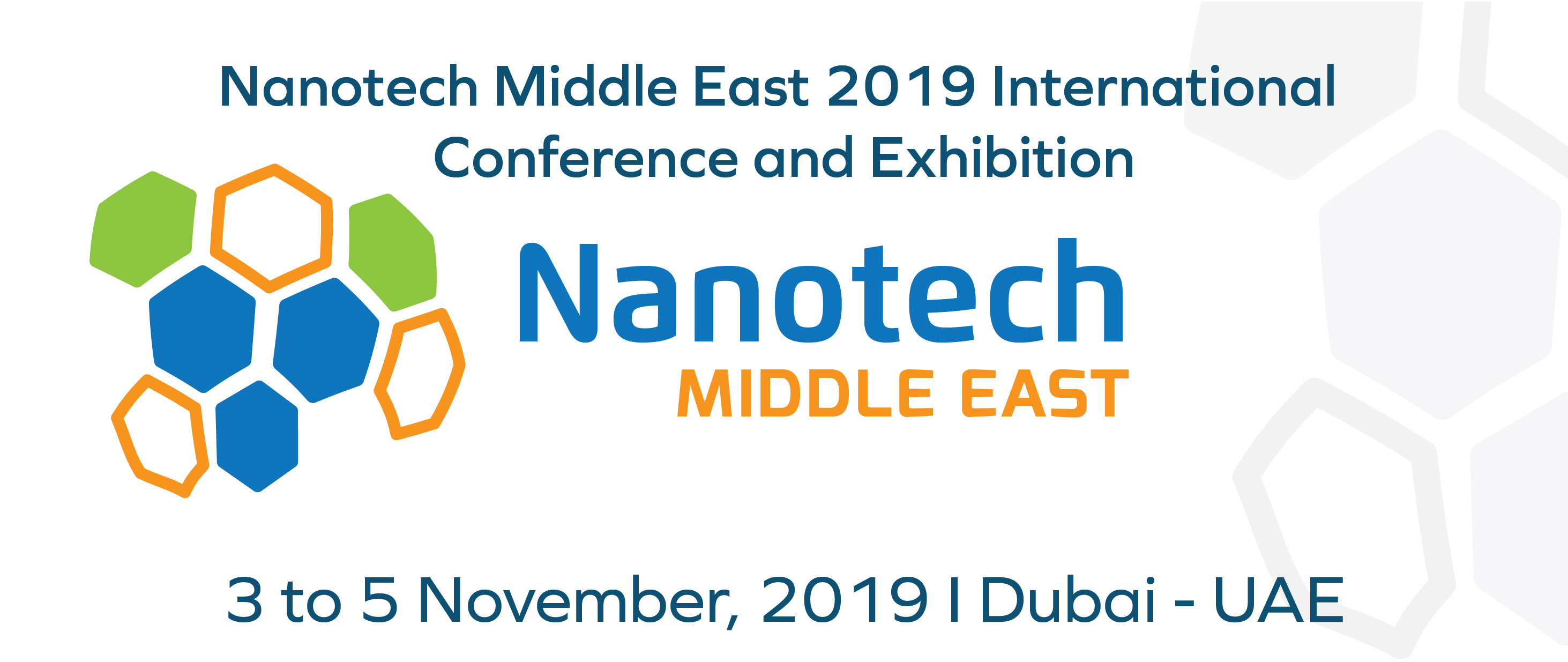 Nanotech Middle East 2019 Conference and Exhibition, 3rd to 5th November, 2019 - Dubai, UAE