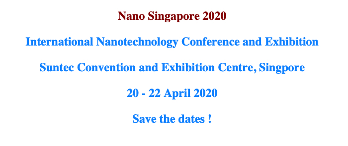 Nano Singapore 2020 International Nanotechnology Conference and Exhibition