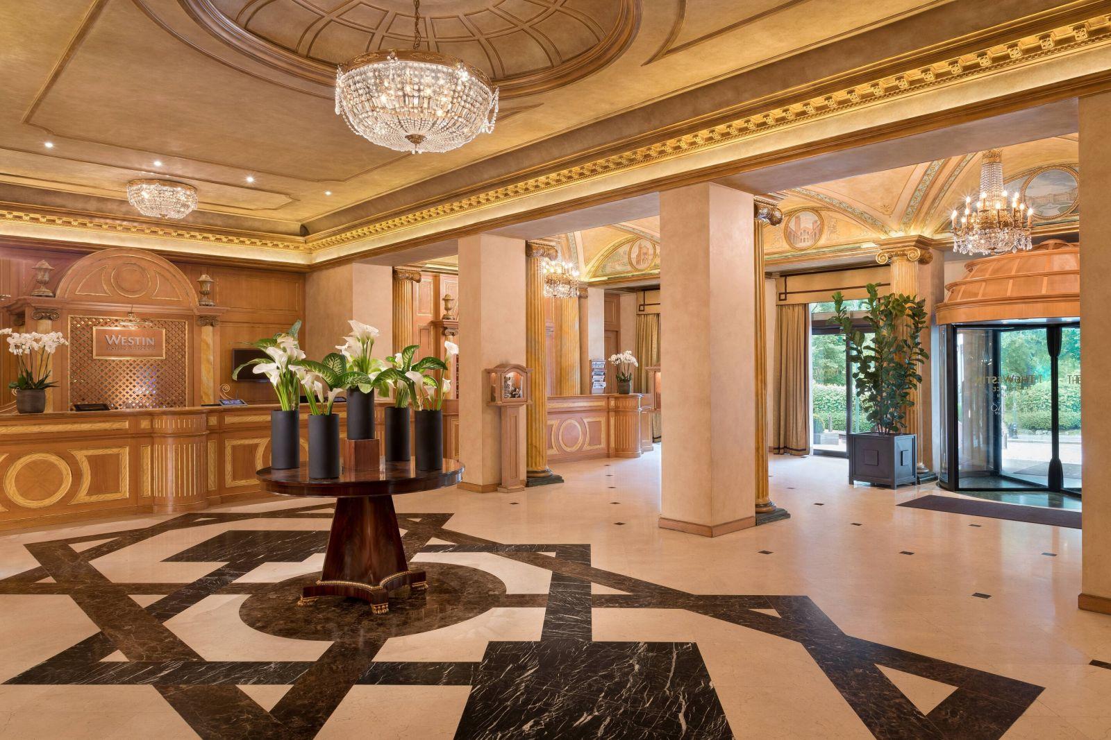 Westin Palace Hotel Milan Lobby