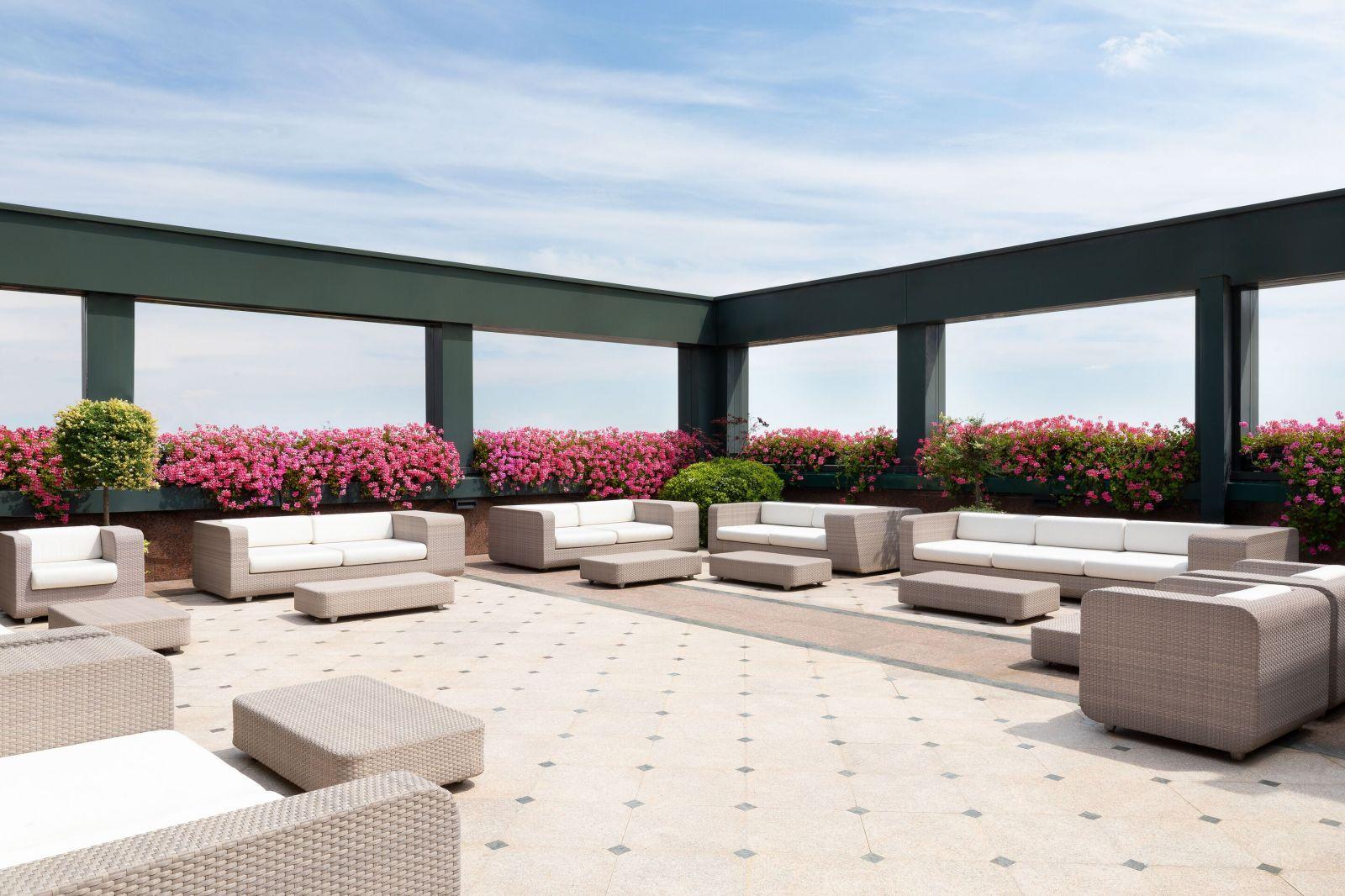 Westin Palace Hotel Milan Terrace Area