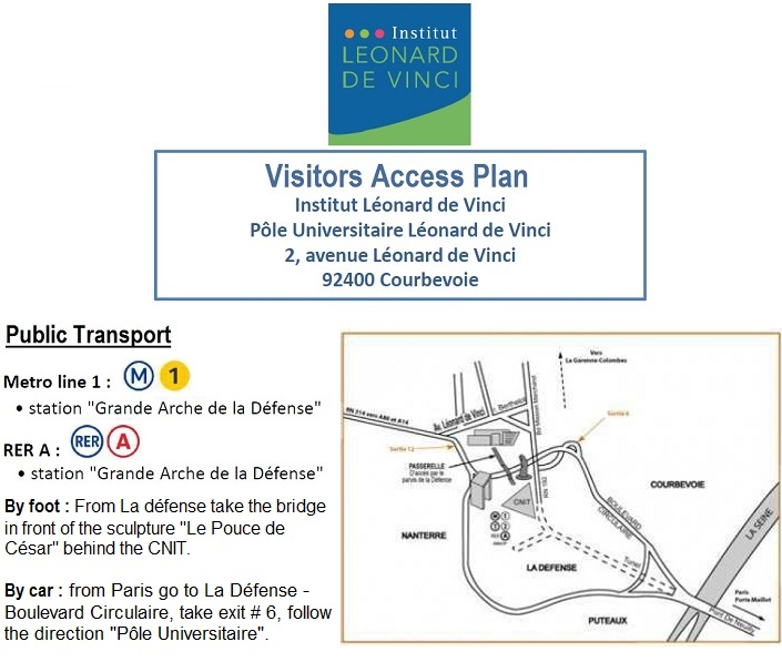 De Vinci Institut Access Plan and Transport
